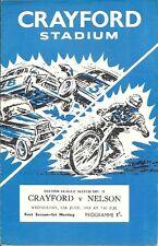 CRAYFORD STADIUM SPEEDWAY, CRAYFORD v NELSON 12th JUNE 1968 PROGRAMME.