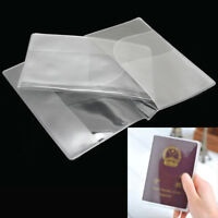 2x Transparent Travel Passport Case Holder Protect Cover Ticket ID Card new