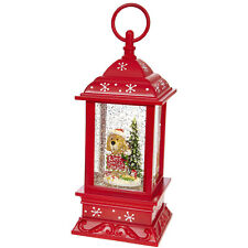RAZ Imports Dog Lighted Water Lantern Swirling Glitter - I Ate Santas Cookies