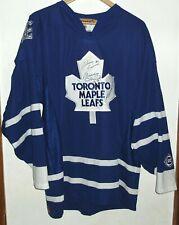 TORONTO MAPLE LEAFS RARE HOCKEY SIGNED SHIRT JERSEY NHL LARGE