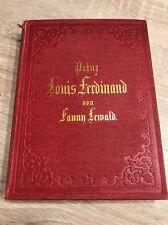 Prinz Louis Ferdinand von Fanny Lewald, 3 Bände in 1, Original 1859