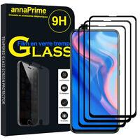 """3 Vitre Film Verre Trempe Protecteur d'écran NOIR Huawei P Smart Z (2019) 6.59"""""""