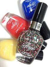 4 Fergie Wet N Wild Nail Polish Set Glitter Summer Spritzer Blue Coral Colada