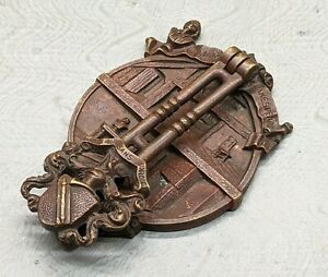 Lovely Very Rare Vintage William Shakespeare Brass Door Knocker SU794