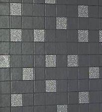 Holden - Tiling on a Roll - Granite Black Wallpaper 89130