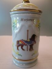1993 Lenox Fine Porcelain The Spice Carousel Spice Jar  With Box Marjoram