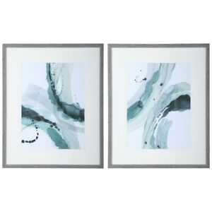 Uttermost Depth Abstract Watercolor Prints, Set of 2 - 33710