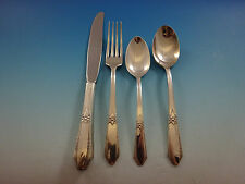 Laurier by Northumbria Sterling Silver Flatware Set Service 17 Pieces Scarce