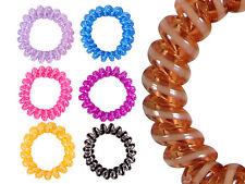 Spiral-Haargummi, Telefonkabel, Haargummi, bunt - farblich sortiert, 5 Stück