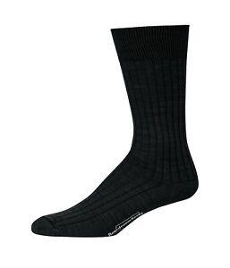 Mens Merino Wool Mid Calf Crew Dress Socks Warm Cozy Winter By Boardroom Socks
