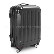"Handgepäck Boardcase Cabin Reisekoffer Trolley, Größe M Modell ""STRIPES"" Schwarz"