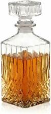 34 oz. Decorative Glass Decanter With stopper Whiskey Liquor Gift NEW