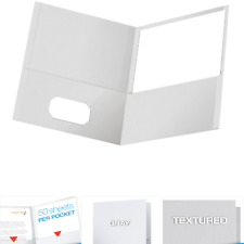 Oxford Twin Pocket Folders Textured Paper Letter Size Gray Holds 100 Shee