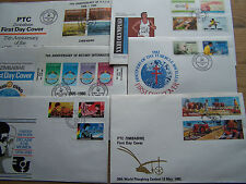 ZIMBABWE,6 DIFFERENT FDCS.EXCELLENT.