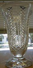"""WATERFORD crystal giftware 10"""" FLOWER VASE"""