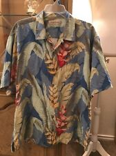 Tommy Bahama Short Sleeve Multi Color Button Up Size XLarge Vacation Wear