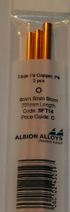 ALBION ALLOYS SFT14 SLIDE FIT  COPPER TUBE PACK 4mm, 5mm & 6mm x 305mm