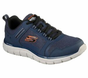 Skechers Navy Shoes Men Memory Foam Sport Comfort Train Mesh Lace Sneaker 232001