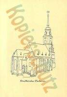 AK Oederan Stadtkirche Kunstkarte Grafik Print Oederan