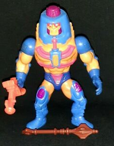 VINTAGE 1983 MATTEL HE-MAN MOTU MAN-E-FACES COMPLETE W/ WONDER BREAD MACE WEAPON