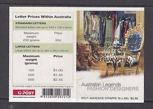 Australia 2005 Legends (Bannister) Gen Booklet OPT Rotary International B272a(1)