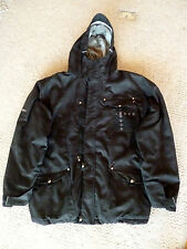 686 Black Jacket  The Tiger Tree Ninja    Zip Broken  L