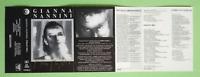 COPERTINA INLAY MC Musicassetta GIANNA NANNINI Profumo ricordi no cd lp dvd vhs