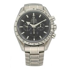 Omega Speedmaster Stainless Steel Watch 42mm Black Dial Case With 18.5cm Strap