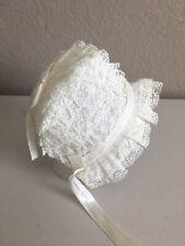 Vintage White Lace Baby Bonnet