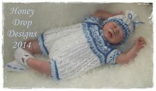 Honeydropdesigns * Huckleberry * PAPER KNITTING PATTERN * Reborn/Baby