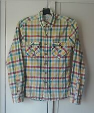 "Topman Long Sleeved Yellow Checked Cotton Shirt Size ""S""."
