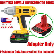 1x DeWalt 18V Ni-Cd System Adapter Fit Milwaukee M18 Li-Ion Battery-Adapter Only