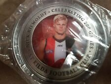 Nick Reiwoldt 200 game medallion - rare AFL St.Kilda Saints commemorative - mint