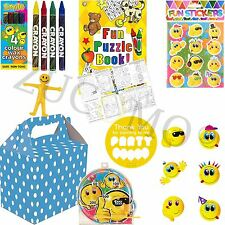 Blue Emoji Pre Filled Childrens Party Bags Boxes For Children kids Birthdays