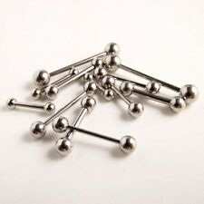 14g 16g 18g Sizes 6mm - 20mm Nipple Tongue Industrial Ear Straight Bar Barbell
