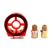 Universal Oil Filter Sandwich Plate Cooler Adapter Kit M20×1.5 and 3/4-16 Red