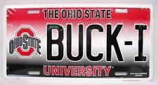 BUCK-I Ohio State Buckeyes University License Plate Sign Car Truck Auto Made USA