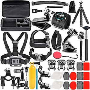Neewer 50-In-1 Action Camera Accessory Kit Compatible with GoPro Hero 9 8 Max 7