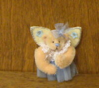 DEB CANHAM Artist Designs ANGEL BEAR PIN, Pin Collection, LE mohair 2.25""
