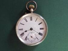 System Pocket Watch,Great Condition Antique Silver Case Roskopf