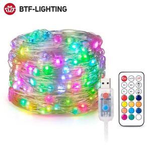 USB RGB LED Pixels String Christmas Lights 2m 5m 10m RF Controller WS2812B DC5V