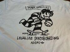 Adidas Legalize Skateboarding Mark Gonzales T Shirt White Xl minor Flaws K24