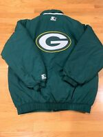 Green Bay Packers Vintage 90's Starter Puffer Full Zip EUC Rare Size L NFL