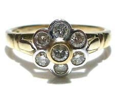 ANTIQUE ESTATE WOMENS 9K GOLD OLD ENGLISH EUROPEAN DIAMOND RING QUALITY++