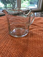 Vintage Glass Three Spout Measuring Cup