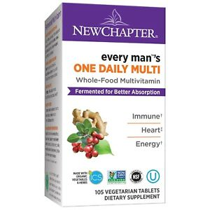 New Chapter Every Man One Daily, Fermented Whole-Food Men's Multivitamin 105 ct