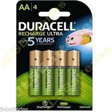 4 x AA DURACELL Rechargeable 2500 mAh NI-MH Batteries 2500mAh HIGH CAPACITY
