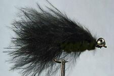1 x Mouche de peche Streamer Catwiskers Noir H8/10/12  mosca fliegen fly fishing