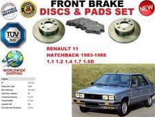 FOR RENAULT 11 HATCHBACK 83-88 FRONT SOLID BRAKE DISCS SET + BRAKE PADS KIT