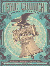 Eric Church 1/25/2017 Poster Philadelphia PA Signed & Numbered A/E #/30